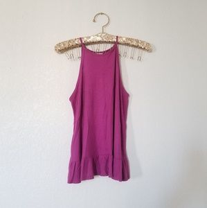 Mossimo Supply Co. Purple Sleeveless Peplum Top